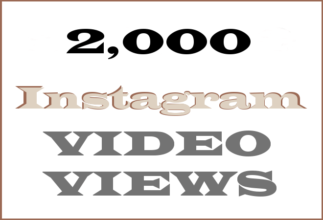 2K Insta HipHop Video Views