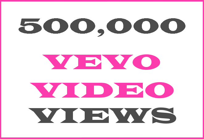 500K Vevo HipHop Video Views