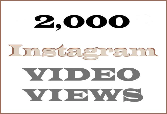 2K Insta HipHop Video Views